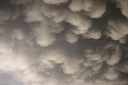 Mammatus clouds, copyright 2010 Christine Petersen